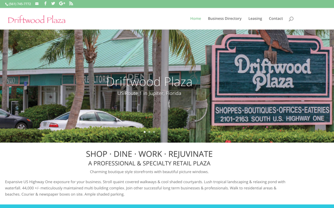Driftwood Plaza Launches New Website